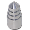 Screw In Chrome Plastic Lug Nut Covers