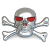 Chrome Plastic Skull Accent