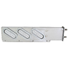 Two Piece Stainless Steel Spring - Loaded Light Bar with Oval Lights - Slanted