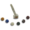 Chrome Plated Dash Screws with Crystal Jewel On Top