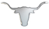 New Style Chrome Longhorn Skull Cut Out