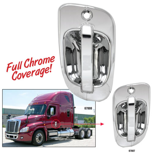 Freightliner Chrome Plastic Exterior Door Handle Cover