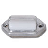 Universal Chrome License Plate Light