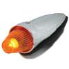 Chrome Plastic Torpedo Style Cab Marker Light