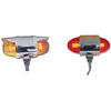 Double Face Chrome Die Cast Auxiliary Color Glass Projected Lights