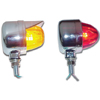 Single Face Chrome Die Cast Auxiliary Color Glass Projected Lights